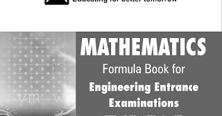 MATHEMATICS FORMULA BOOK FOR VARIOUS EXAM BY RESONANCE