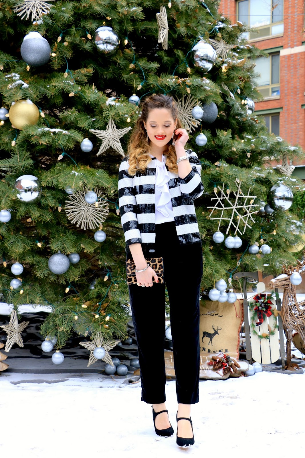 Nyc fashion blogger Kathleen Harper's holiday outfit