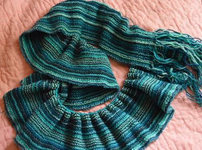 Garter stitch shawl knit with Palette from Knit Picks