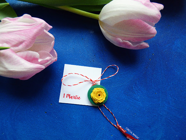 Martisoare Quilling 2016 Trandafirul Circul Magic Flori