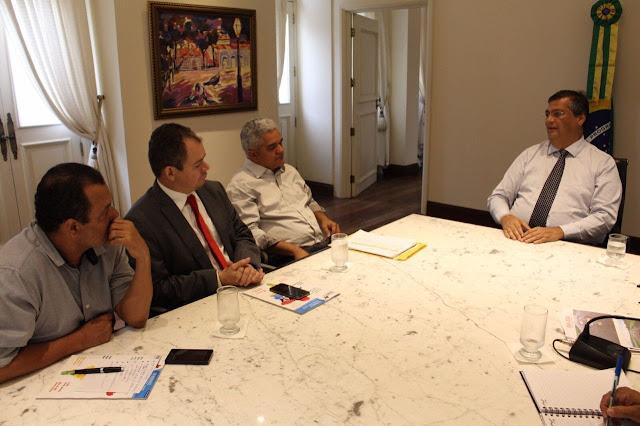 Resultado de imagem para prefeito américo e rafael leitoa se reúne com governador