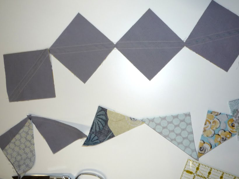 Surrounded By Scraps Half Square Triangle Block
