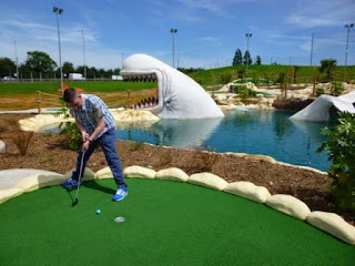 Playing at Moby Adventure Golf in Romford