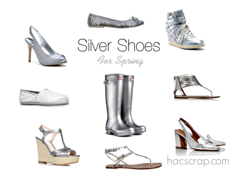 Variety of Silver Shoe Styles