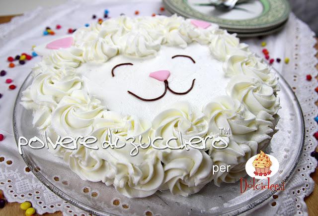 torta pecorella cake design pasta di zucchero polvere di zucchero paneangeli cameo dolcidee