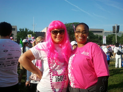 Nicole McLean and cancer supporter at Race for the Cure DC | My Fabulous Boobies
