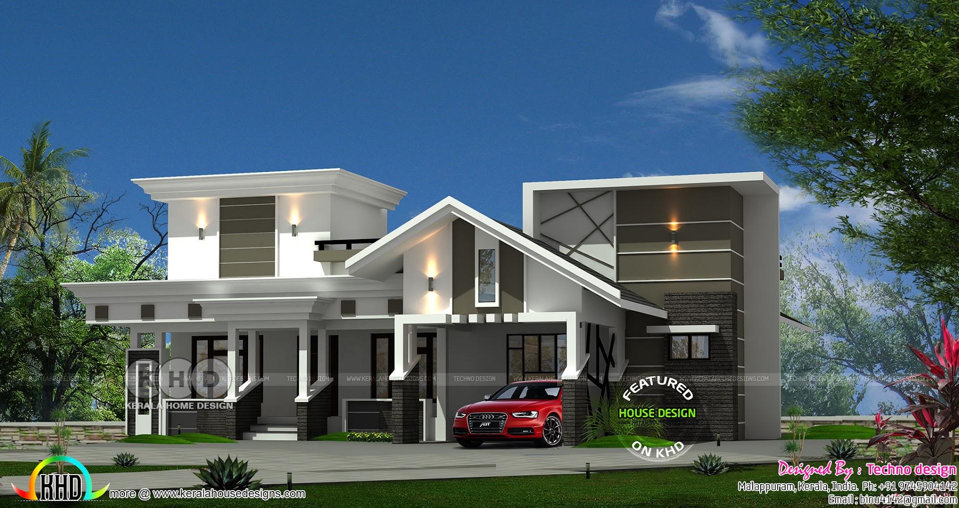 1460 Square Feet 3 Bedroom Single Floor Modern House Kerala Home Design And Floor Plans 8000 Houses