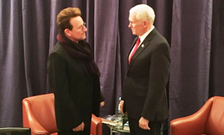 Bono and Mike Pence
