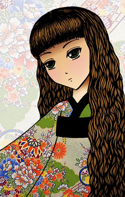 Anime Kimono Girl Development Anna Legaspi Art Craftofboredom pen on paper. digital art
