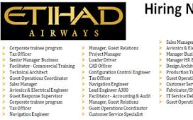 Jobs at Etihad Airways Careers