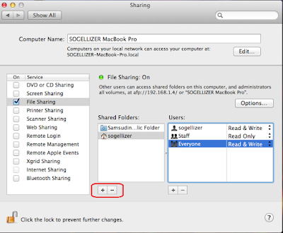 Tambah Folder Sharing Mac