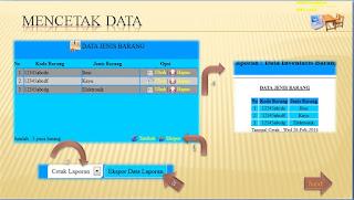 halaman cetak data