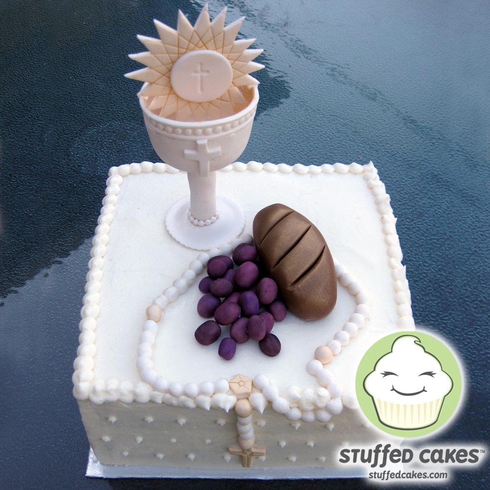 Stuffed Cakes: First Communion Cake