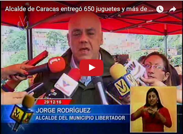 Jorge Rodriguez vende 1000 perniles para toda Caracas