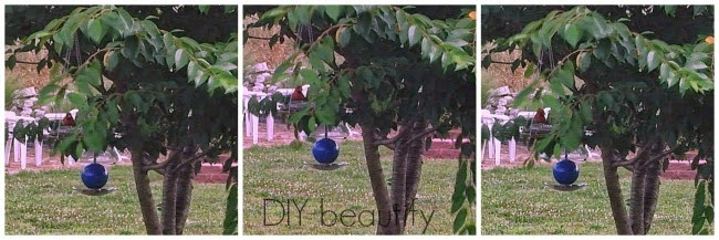 Get the tutorial for this Thrifted Bird Feeder made with crystal plates at DIY beautify.
