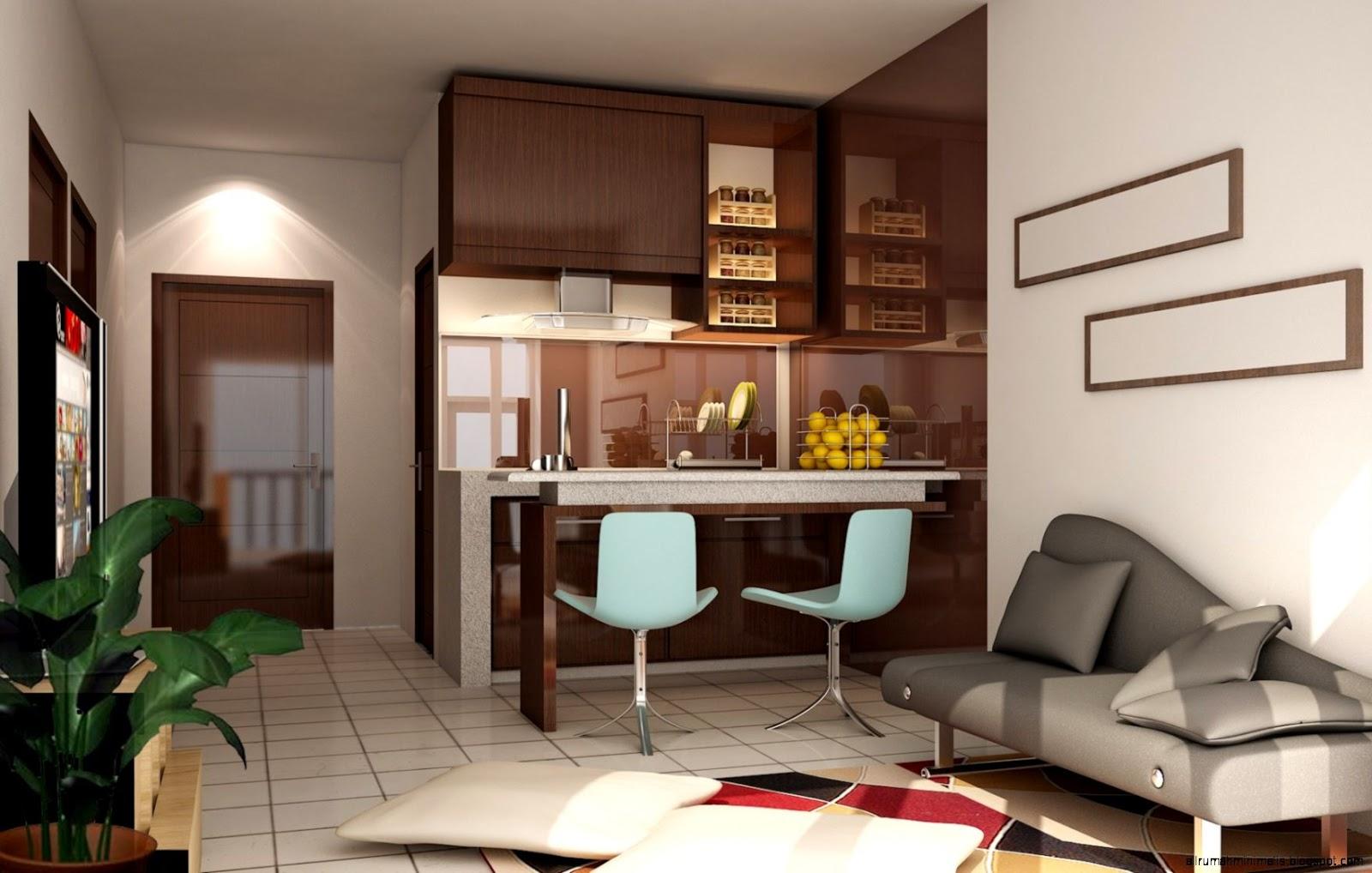 Desain Ruang Keluarga Yang Menyatu Dengan Dapur Denah Rumah
