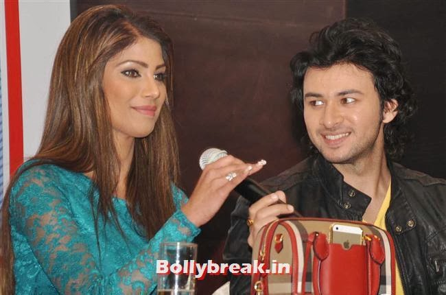 Nicole Faria and Dev Sharma, Nicole Faria in Green Dress Promotoes Yaariyan