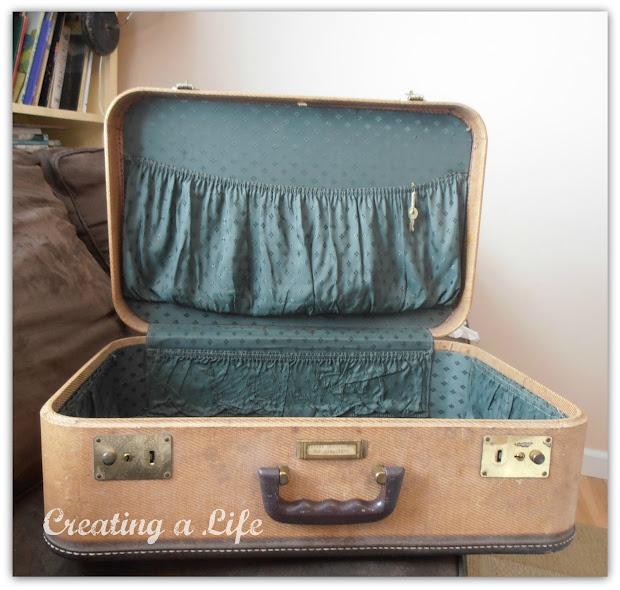 Creating Life Vintage Suitcase Find