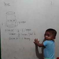 Sebuah tabung berisi air 1/3 bagian. jika ditambahkan 10 liter air maka tabung menjadi terisi 1/2 bagian. volume tabung adalah