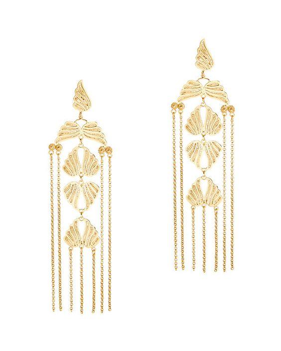 Popular Mallarino Violaine long chandelier earrings at intermixonline