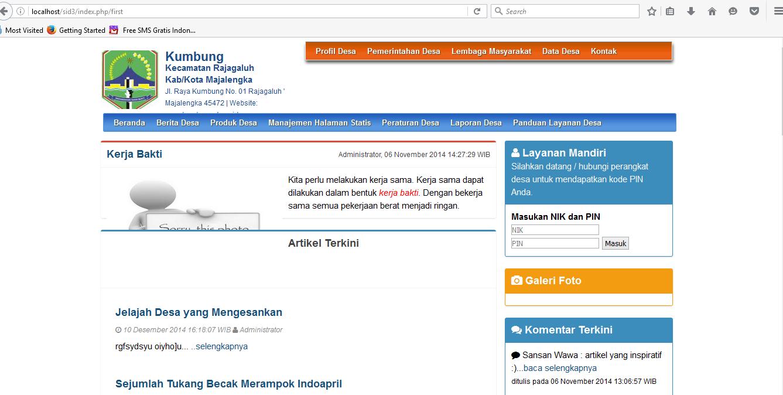 Skripsi Sistem Informasi Desa Berbasis Web Ide Judul Skripsi Universitas