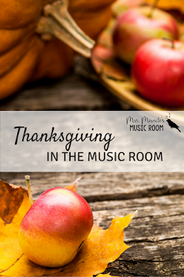 Thanksgiving in the Music Room: A game, a song, and a book for Thanksgiving music lessons!
