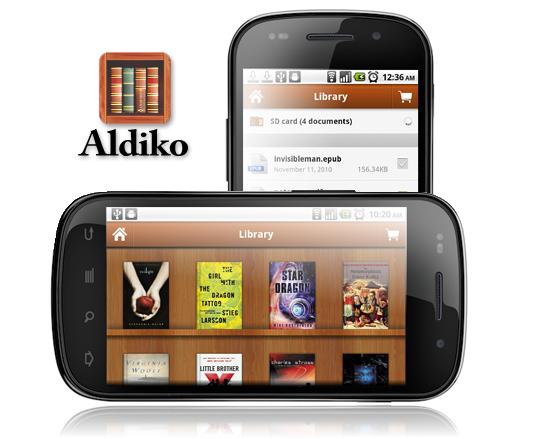 Aldiko, lector de ebooks