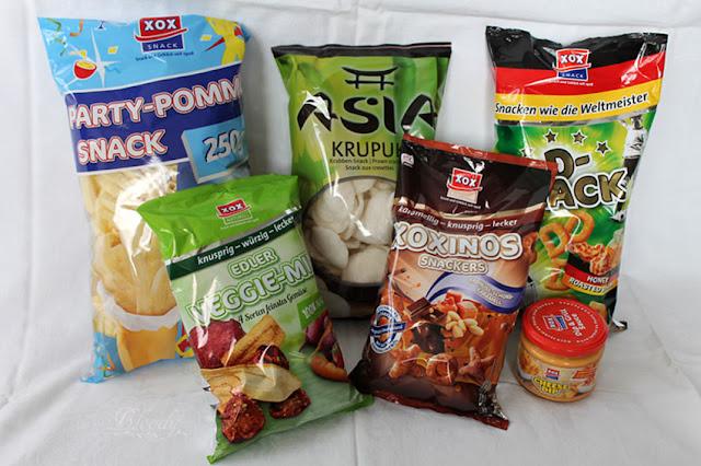 Testpaket mit Snacks von XOX
