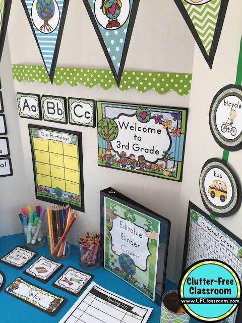 Recycling Themed Classroom - Ideas & Printable Classroom ...