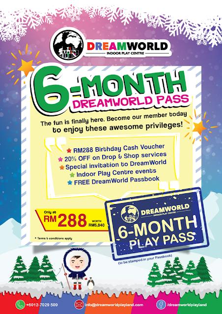 DreamWorld Indoor Playland membership,