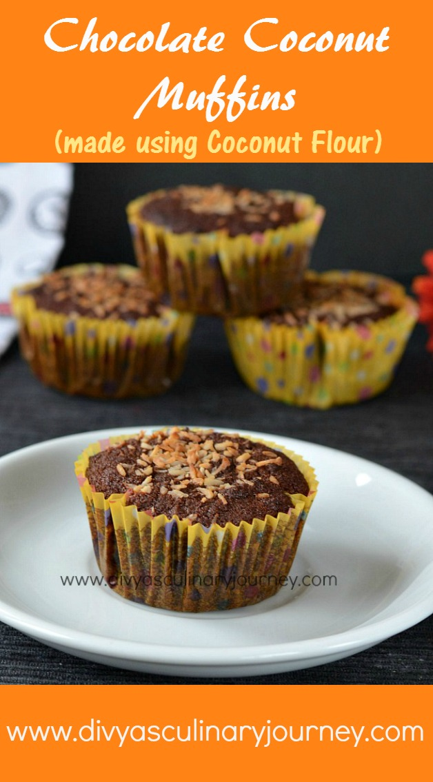 Chocolate Coconut Muffins made using Coconut Flour. Grain free, Gluten ...
