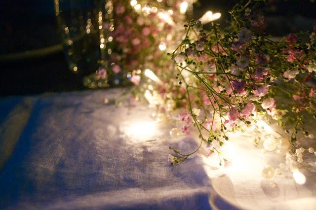 blumen lichterkette