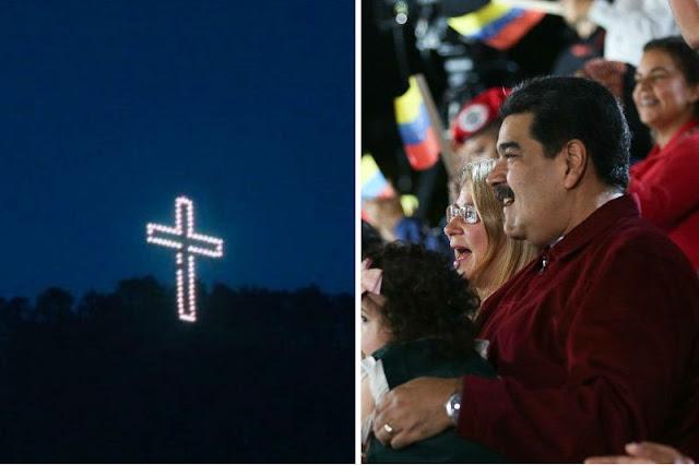 Nicolás Maduro encendió la cruz del Ávila para celebrar su cumpleaños