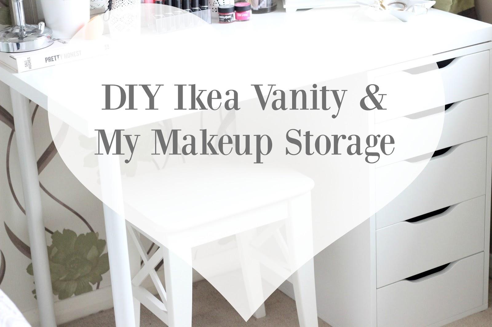 Diy Ikea Vanity Makeup Storage