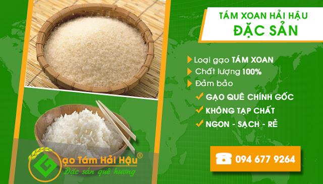 Đại lý phân phối gạo Tám Xoan chính gốc tại Hải Hậu - Nam Định