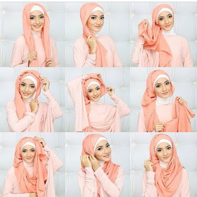 Tutorial Style Hijab Pashmina Neklace Bond