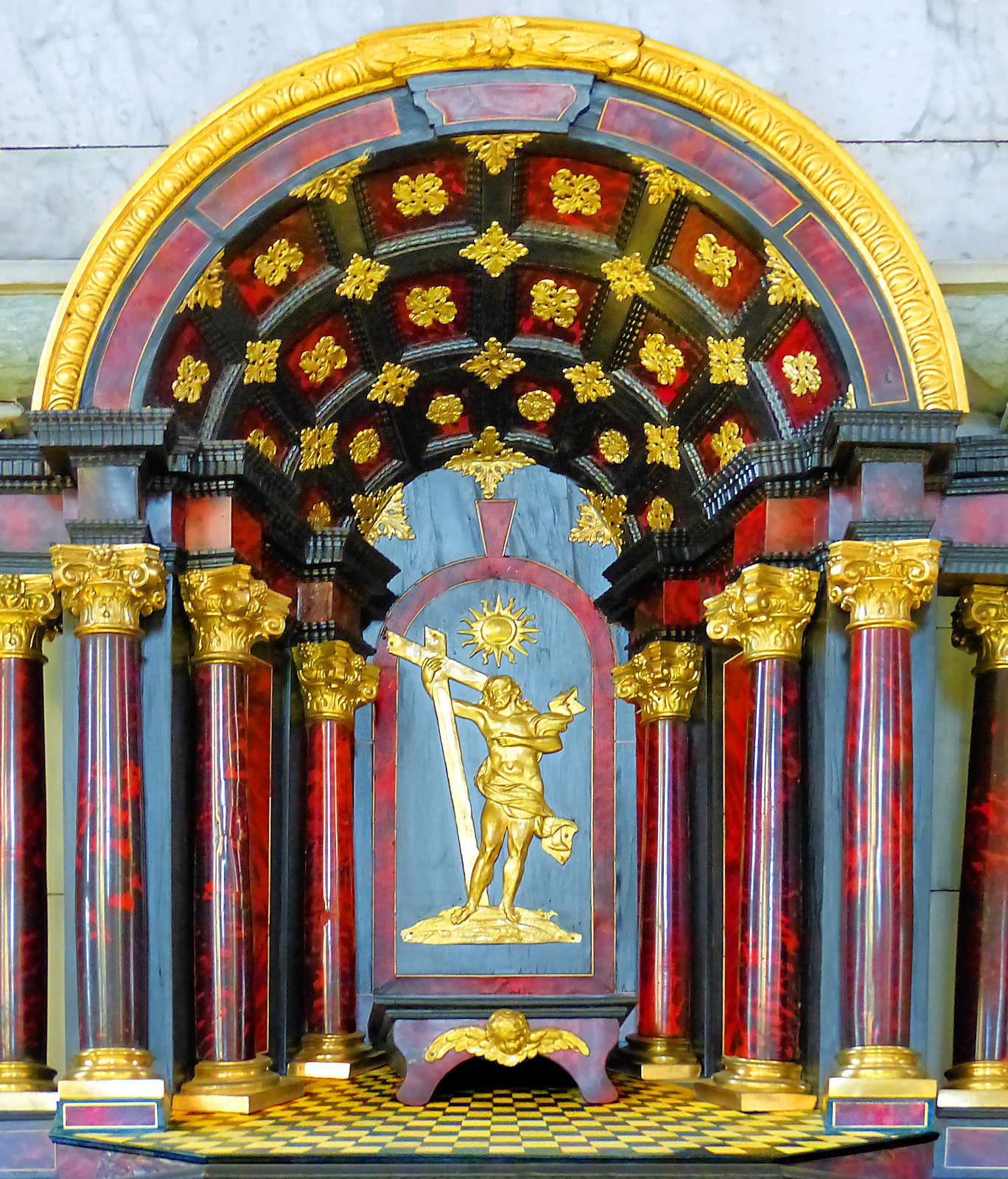 Tabernacle Chapelle Hospice d'Havré, Tourcoing -Très gros plan