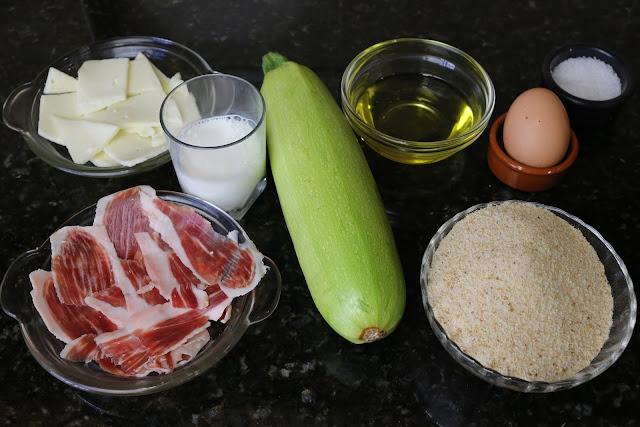Ingredientes para bocaditos de calabacín