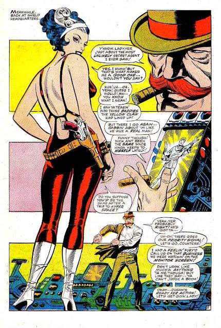 Strange Tales v1 #168 nick fury shield comic book page art by Jim Steranko
