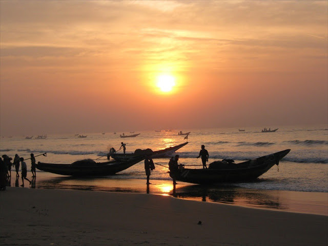 Puri beach is most tourist attracted beach in India.