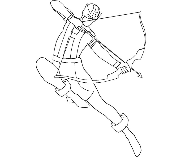 Hawkeye Avenger Free Colouring Pages