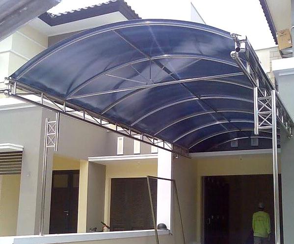 biaya membuat garasi mobil dengan baja ringan 10 model kanopi untuk rumah inspirasi terbaik