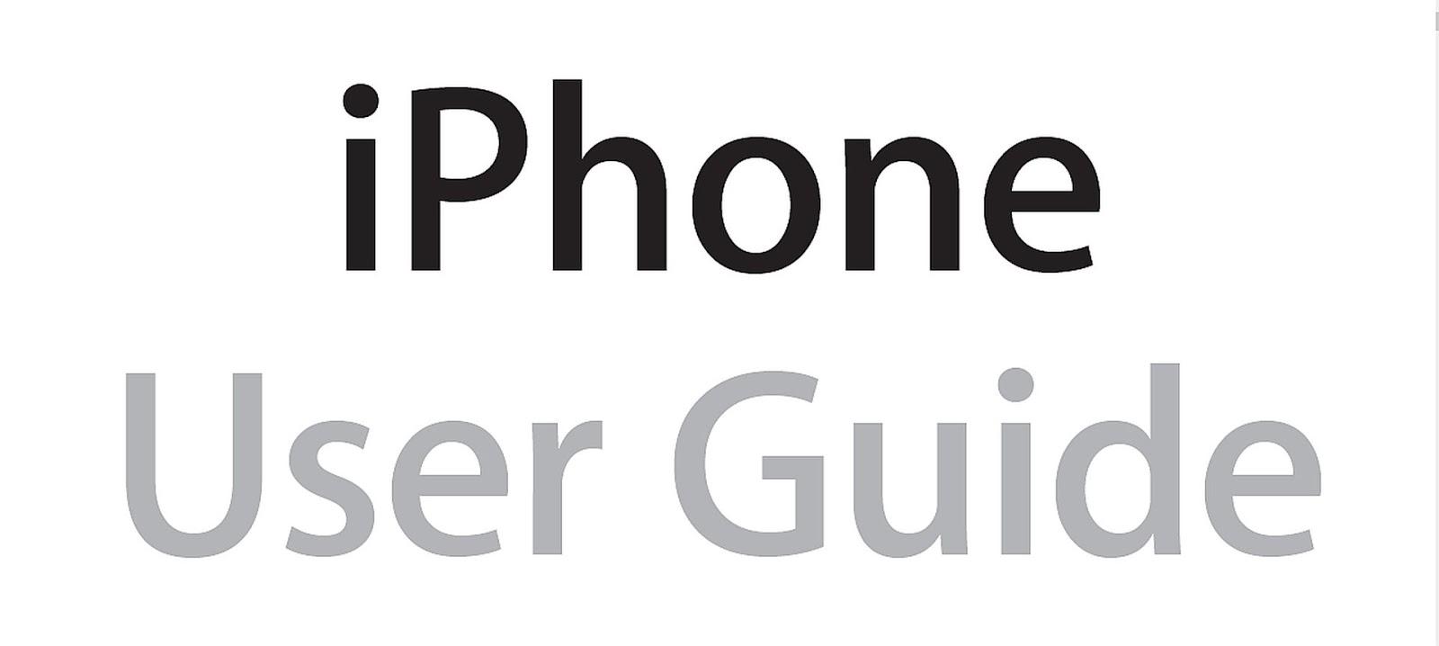 iPhone User Manual PDF Download Free ~ 15000PDF