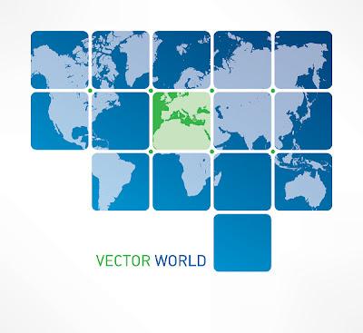 mapa mundo en vectorial