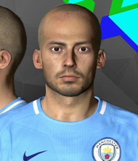 PES 2017 Faces David Silva by Youssef Facemaker