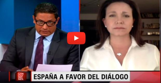 María Corina Machado le da a Fernando del Rincón los detalles del famoso Diálogo de España con Maduro