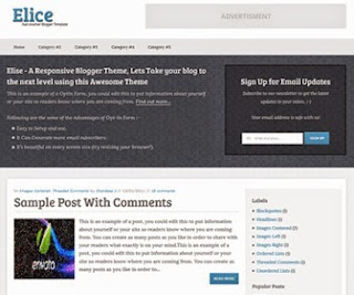 Best 5 Template Blogger SEO Responsive and ADS Ready