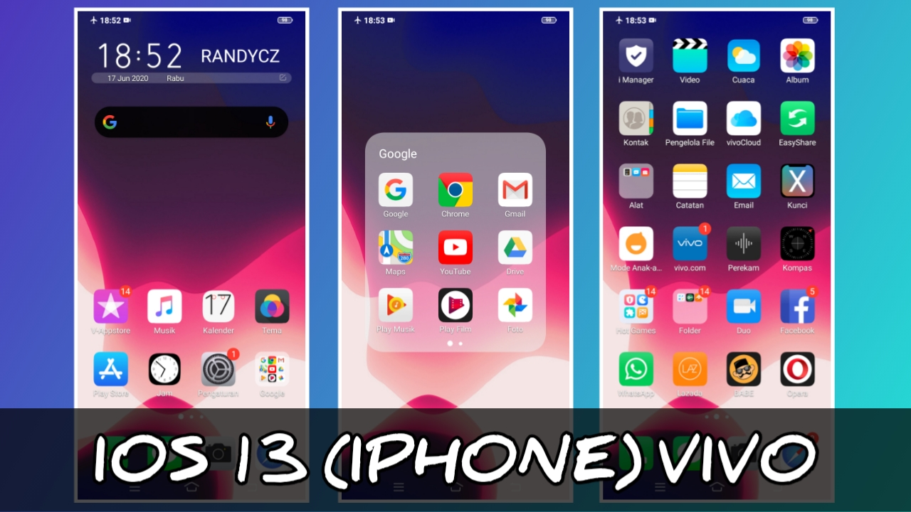 Download Tema iOS iPhone 13 VIVO