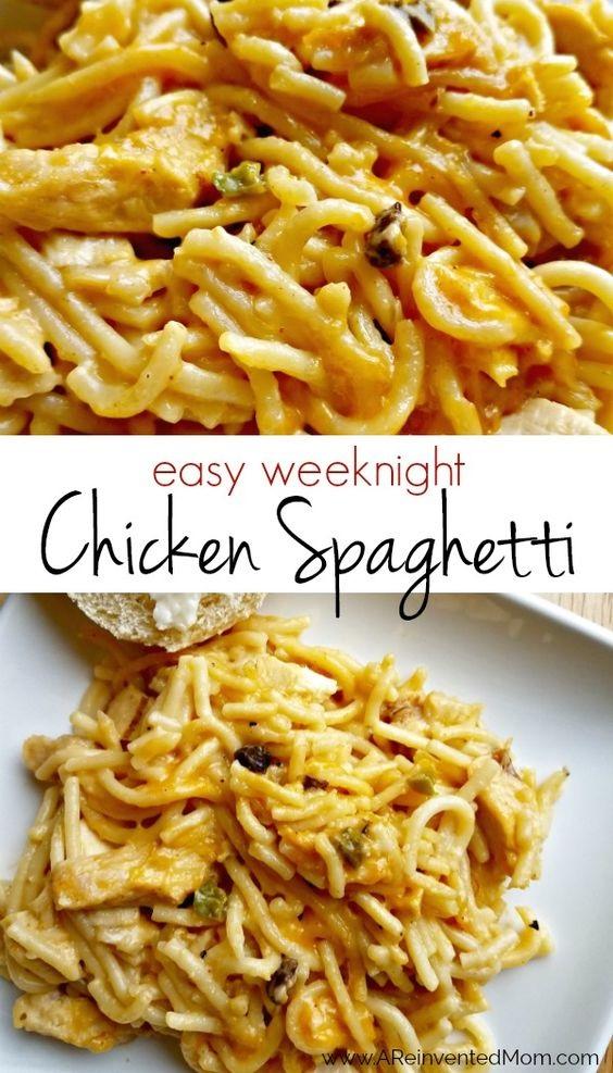 Easy Weeknight Chicken Spaghetti