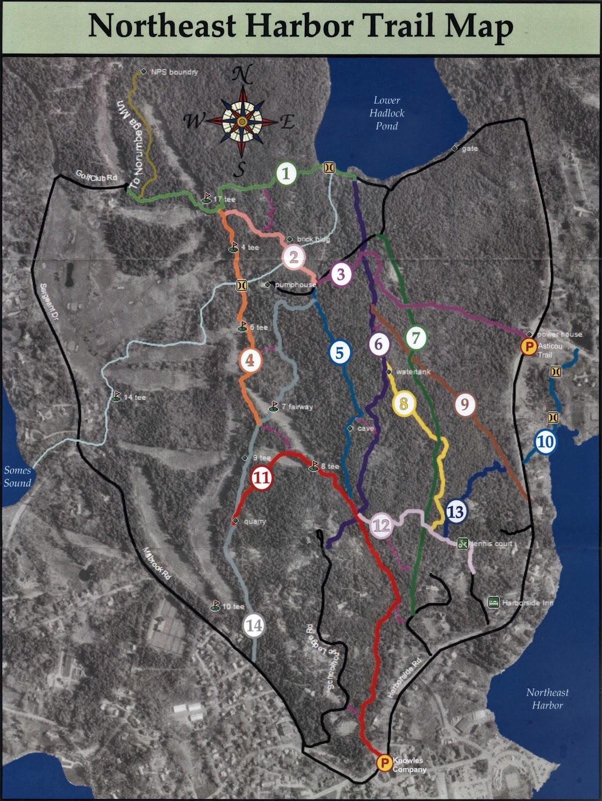 Northeast Harbor Maine Map.The Memorials Of Acadia National Park